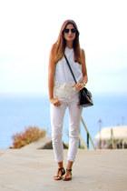 Zara blouse - pull&bear panties - Oysho sandals