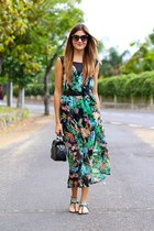 Sheinside dress - PERSUNMALL bag - Dolce & Gabbana sunglasses