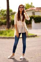 Sheinside blouse - Zara jeans - Prada sunglasses - pull&bear sneakers
