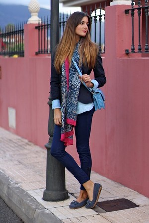 Zara blazer - natura shoes - Encuentro scarf - PERSUNMALL bag - Zara panties