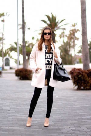 c&a coat - H&M jeans - Zara t-shirt