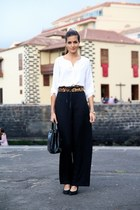 Mango belt - choiescom bag - Stradivarius blouse - Mango heels