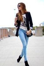 Zara boots - Primark jeans - Zara blazer - imperio clandestino bag