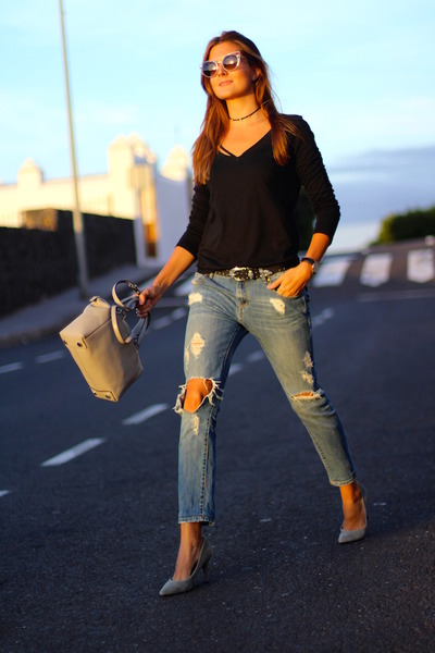 Mango jeans - Michael Kors bag - Fendi sunglasses - shein top