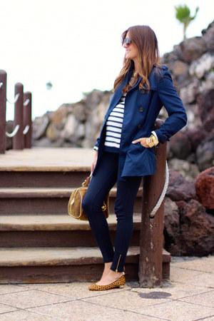 Zara leggings - Stradivarius coat - Michael Kors bag - Zara flats