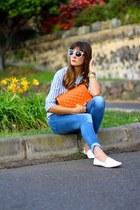 Lusstra bag - Stradivarius jeans - H&M shirt - Zara flats