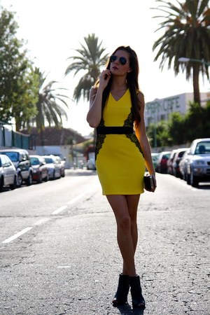 Sheinside dress - Mango heels