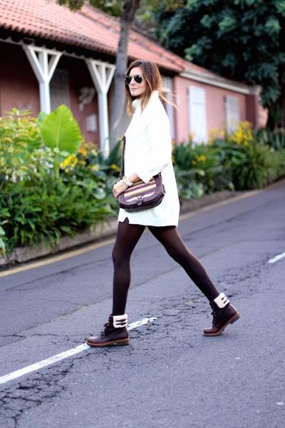 Panama Jack boots - Sheinside sweater - natura bag - insignia store watch