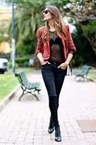 Zara blouse - Sheinside jacket - PERSUNMALL bag - Mango heels