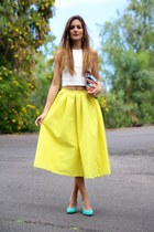 Zara bag - Choies skirt - Choies top - Zara heels