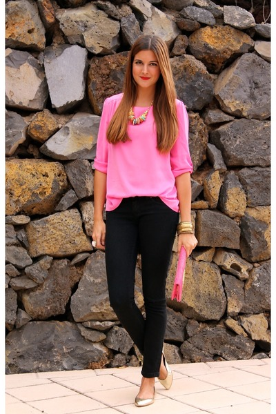 Hot Pink Basic T-Shirt - How to Wear and Where to Buy | Chictopia