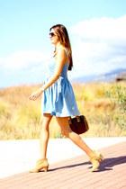 Stradivarius boots - pepa loves dress - Michael Kors bag