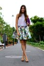 Choies-skirt-pull-bear-heels-zara-blouse