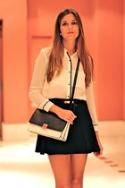 Zara blouse - PERSUNMALL bag - la scala heels - Zara skirt