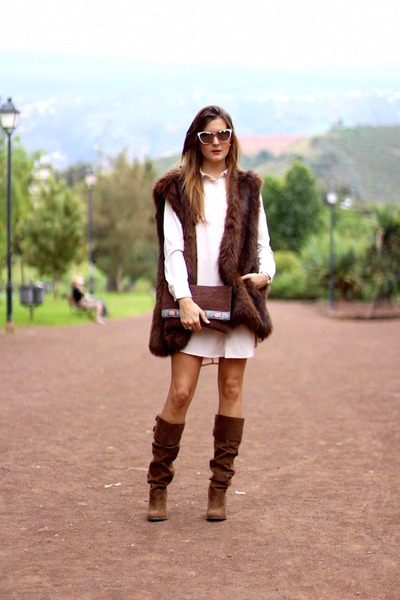 Jimmy Choo sunglasses - Zara boots - Sheinside dress - La Palma Artesania bag