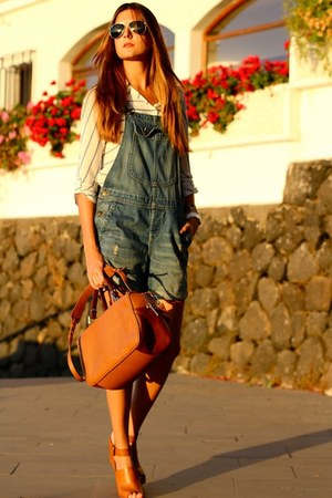 Zara bag - Sheinside blouse - Stradivarius heels - H&M jumper