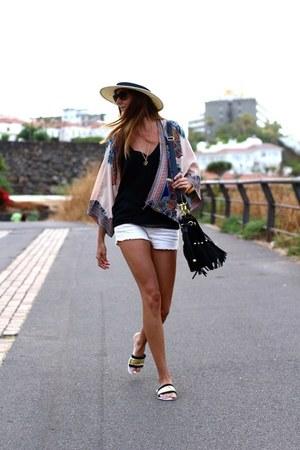 Mango shorts - Choies sandals - Choies cardigan - Zara blouse