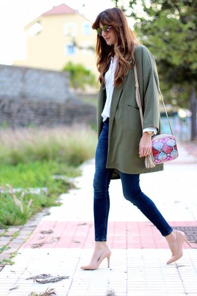 Zara jeans - Sheinside blazer - imperio clandestino bag - Guess sunglasses