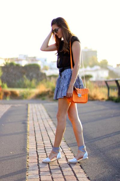 romwe skirt - Stradivarius blouse - HammerHoj flats