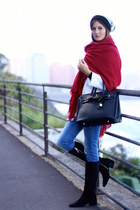 Zara boots - Zara coat - c&a hat - Zara scarf