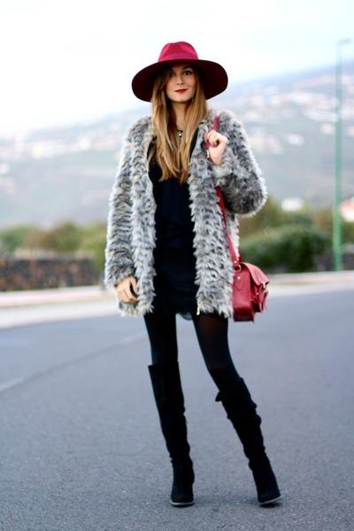Sheinsidecom coat - Zara boots - imperio clandestino bag