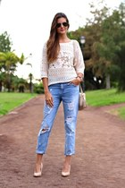 imperio clandestino bag - Zara jeans - c&a top - suiteblanco heels