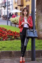 Sheinside jacket - Choies blouse - Bershka heels
