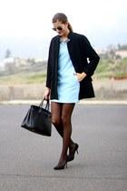 Zara coat - Sheinside dress - Zara tights - Zara necklace