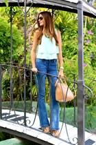 Walg London top - Mango jeans - Teria Yabar bag - pull&bear heels