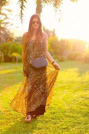 Mango bag - Sheinside dress - Mango earrings