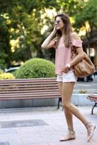 Prada bag - Mango shorts - coach flats - nowIStyle blouse