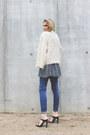 Navy-zara-jeans-off-white-iro-jacket-black-zara-heels