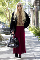 Aesa necklace - Celine bag - dita sunglasses - ever cape - romwe skirt