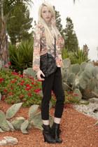 vintage blouse - Kelsi Dagger boots - jas mb bag - H&M pants