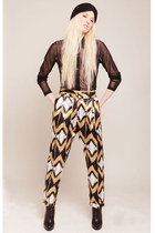 Giuseppe Zanotti boots - VNTAGE hat - DIME PIECE top - DIME PIECE pants