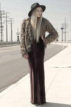 Vintage Havana jacket - T Alexander Wang dress - Urban Outfitters hat