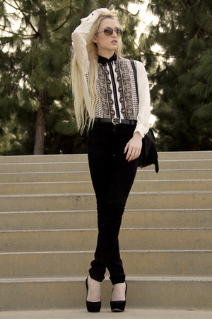 Zara blouse - Current Elliott jeans - PROENZA SCHOULER bag