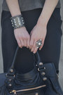 Heather-gray-no-a-bracelet-balenciaga-bag-black-t-alexander-wang-skirt