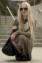 Kimberly Ovitz dress - 31 Phillip Lim bag - dita sunglasses - Rick Owens wedges