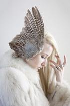 silver maison martin margiela ring - fur vintage coat