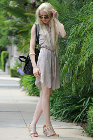 acne dress - Mosely Tribes sunglasses - VPL heels - Forever 21 bracelet