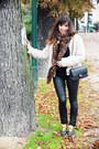 Off-white-folia-coat-black-pimkie-leggings-black-chanel-bag