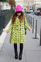 yellow Roksanda Ilincic coat - black Isabel Marant boots