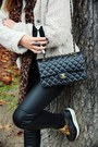 Off-white-folia-coat-black-pimkie-leggings-black-chanel-bag