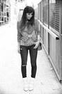 White-isabel-marant-boots-navy-jbrand-jeans-aquamarine-asos-sweater