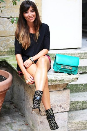 black sam edelman boots - aquamarine PROENZA SCHOULER bag