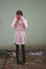 Pink-anthology-small-boutique-dress-pink-jcrew-shirt-brown-vintage-boots-g