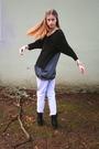 Black-salemio-shirt-blue-h-m-jeans-black-frye-boots-silver-frever-21-brace