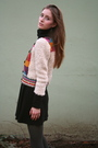 Beige-h-m-sweater-black-american-apparel-dress-gray-tights