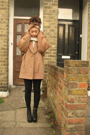 little fille accessories - black Jeffrey Campbell shoes - beige wilfred sweater